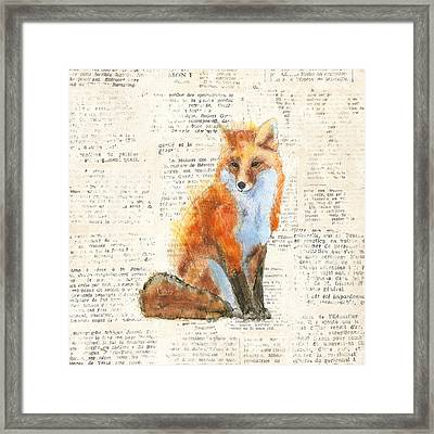 Into The Woods Iv No Border Framed Print by Emily Adams
