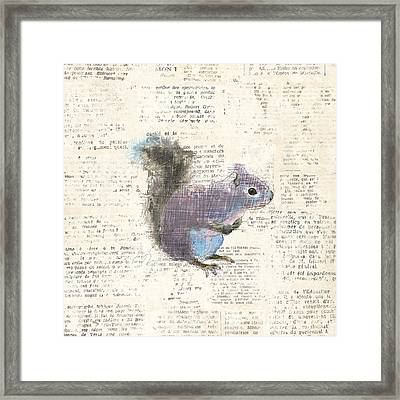 Into The Woods V No Border Framed Print by Emily Adams