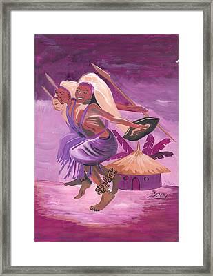 Intore Dance From Rwanda Framed Print by Emmanuel Baliyanga