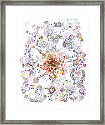 Intracellular Diversion Framed Print