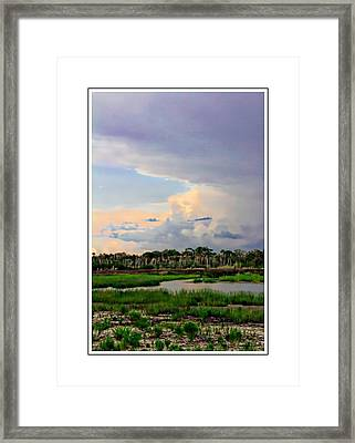 Intracoastal Colours Framed Print by Alice Gipson