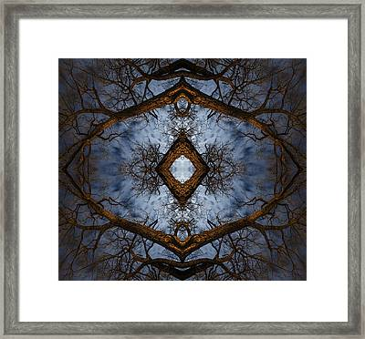Intricate Eye In The Sky Framed Print