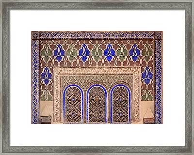 Intricate Painted And Stucco Patterns Framed Print by Lizzie Shepherd