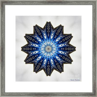 Intricate Shades Of Blue Framed Print by Renee Trenholm