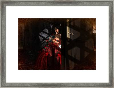 Framed Print featuring the digital art Intrigue by Kylie Sabra