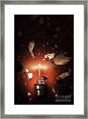 Intrinsic Obsolescence. Broken Idea By Design Framed Print