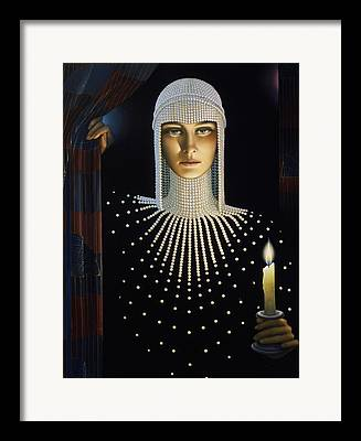 Candle Lit Paintings Framed Prints