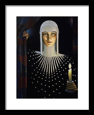 Lights Framed Prints
