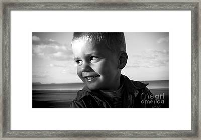 Introducing Max Framed Print by Karen Lewis