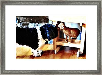 Introductions Framed Print by Nancy E Stein