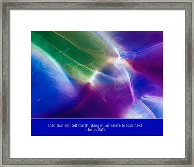 Intuition And The Thinking Mind Framed Print by Omaste Witkowski