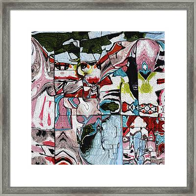Intuitive Abstract #4 Molten Metal Framed Print by Ginette Callaway