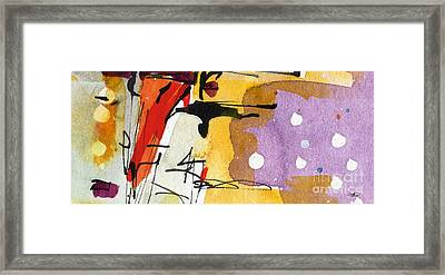 Intuitive Abstract Venice Watercolor And Ink Framed Print