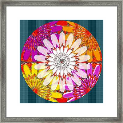 Intuitive Chakra Yoga Meditation Background Designs  And Color Tones N Color Shades Available For Do Framed Print by Navin Joshi