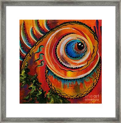 Intuitive Spirit Eye Framed Print by Deborha Kerr