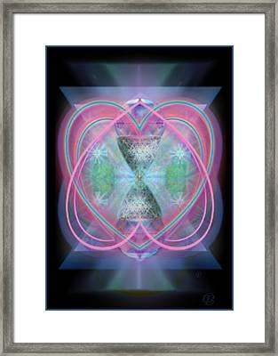 Intwined Hearts Chalice Enveloping Orbs Vortex Fired Framed Print