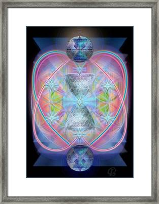 Intwined Hearts Chalice Gold Orb In Bright Synthesis Framed Print