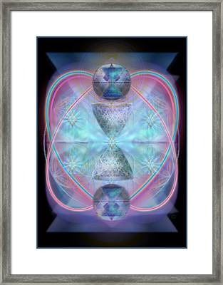 Intwined Hearts Chalice Shimmering Turquoise Vortexes Framed Print