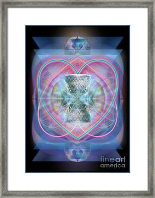 Intwined Hearts Chalice Wings Of Vortexes Radiant Deep Synthesis Framed Print
