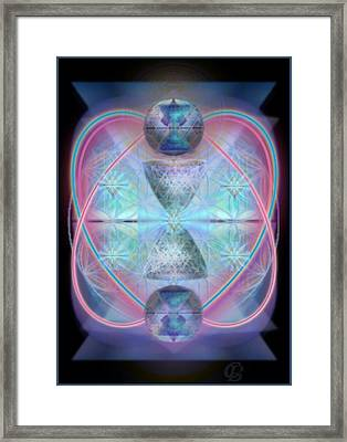Intwined Hearts Gold-lipped 3d Chalice Orbs Radiance Framed Print