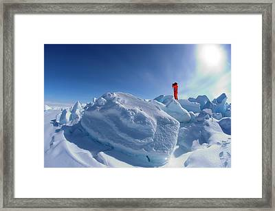 Inuit Guide Framed Print by Louise Murray