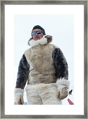 Inuit Hunter Framed Print by Louise Murray