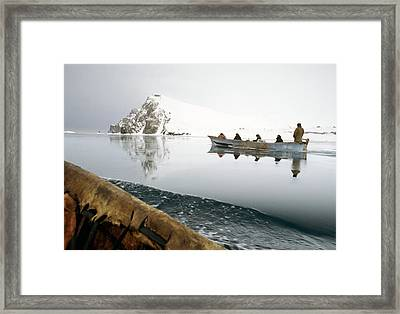 Inuit Sea Hunters Framed Print by Science Photo Library