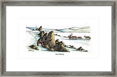 Inuit Waiting Framed Print