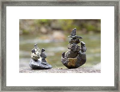 Inuksuk Framed Print by Sharon Talson