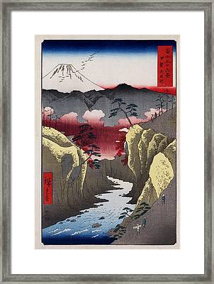 Inume Pass In Kai Province Framed Print by Georgia Fowler