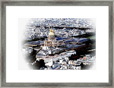 Invalides Paris Framed Print by Jacqueline M Lewis
