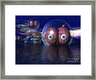 Framed Print featuring the digital art Invasion by Jacqueline Lloyd