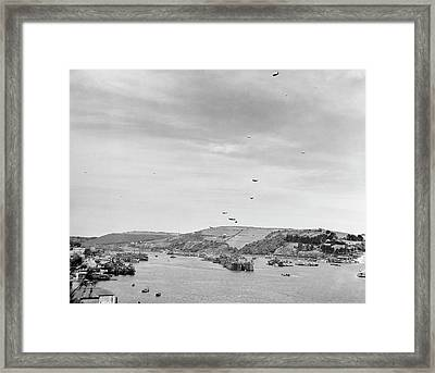 Invasion Of Normandy Shipping Framed Print