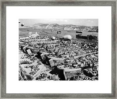 Invasion Of Southern France Framed Print by Underwood Archives