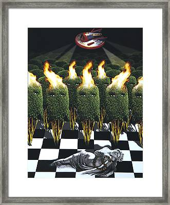 Invasion Of The Alien Bushes Framed Print by Larry Butterworth