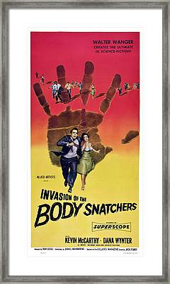 Invasion Of The Body Snatchers, Us Framed Print by Everett
