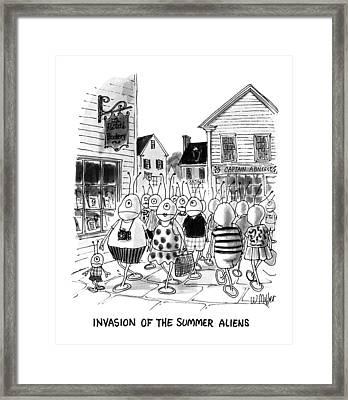 Invasion Of The Summer Aliens Framed Print