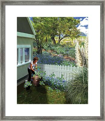 Invasive Garden Plants Framed Print