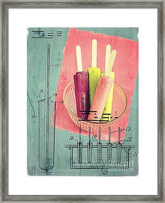 Invention Of The Ice Pop Framed Print by Edward Fielding