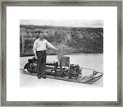 Inventor Of First Snowmobile Framed Print