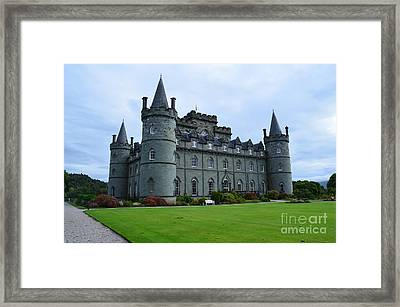 Inveraray Castle In Argyll Framed Print by DejaVu Designs