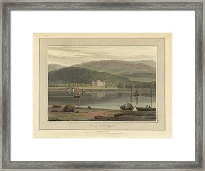 Inverary Castle In Argyllshire Framed Print by British Library