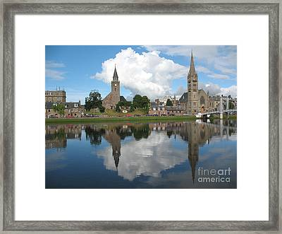 Framed Print featuring the photograph Inverness Highlands Of Scotland by Jacqi Elmslie