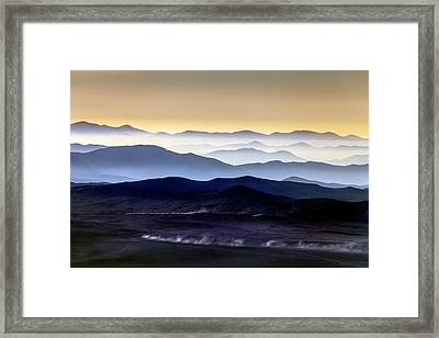 Inversion Layers In The Atacama Desert Framed Print