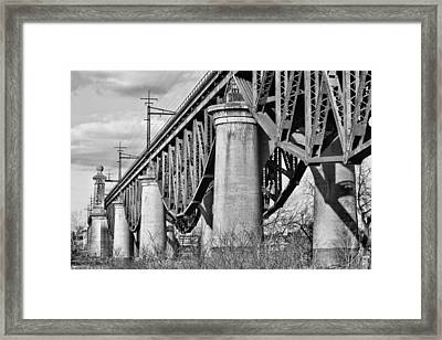 Inverted Bw Framed Print by JC Findley
