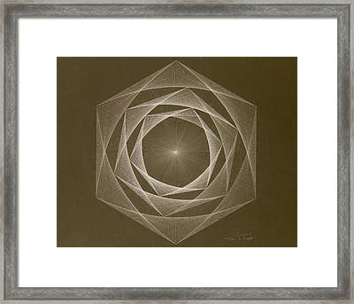 Inverted Energy Spiral Framed Print by Jason Padgett