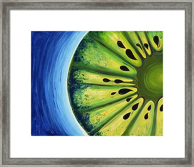 Inverted Kiwi Framed Print by Alexandra Kushman