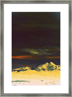 Inverted Peaks Framed Print by Augustina Trejo