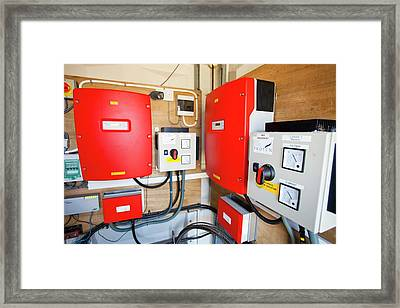 Inverters For A Wind Turbine Framed Print