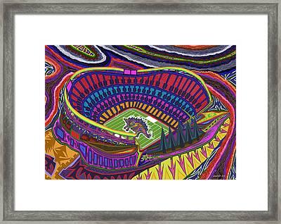 Invesco Field - Stegasaurus Stadium Framed Print